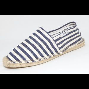 Soludos espadrille flats blue/natural stripes
